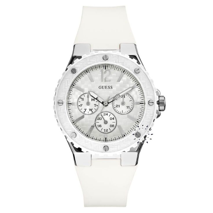 GUESS Overdrive White Rubber Strap Η τιμή μας: 125€ http://www.oroloi.gr/product_info.php?products_id=26032