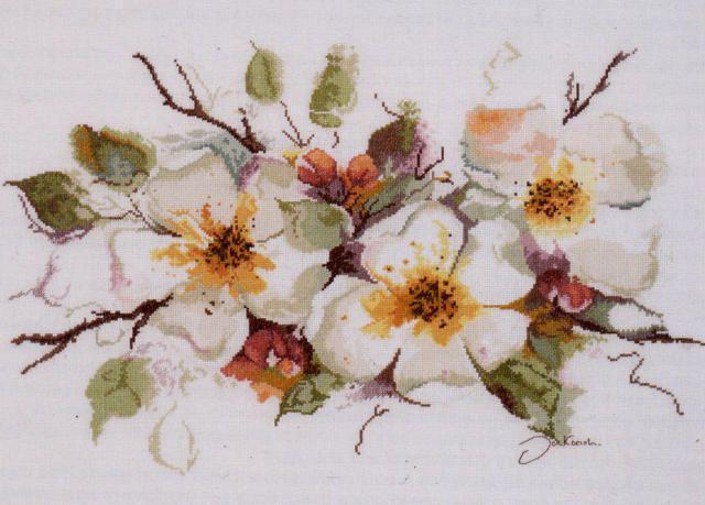 Оригинал схемы вышивки «Яблоневый цвет»