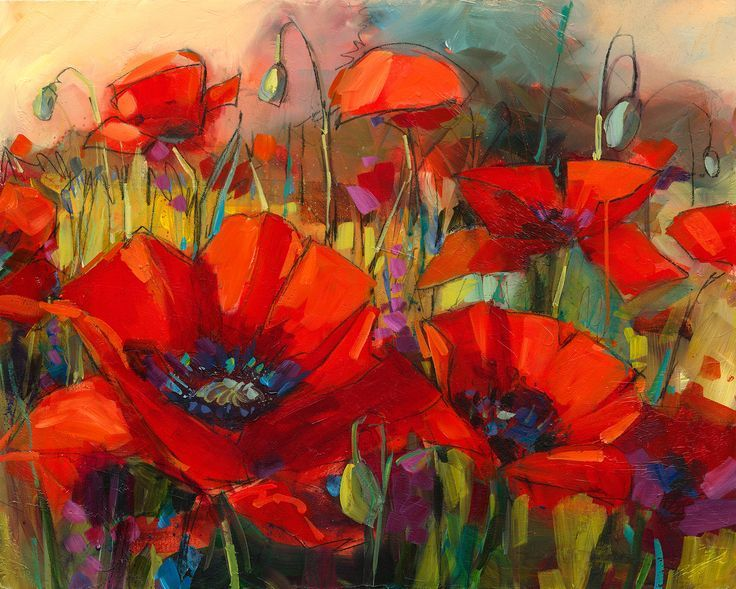 Art paintings by jennifer bowman google zoeken flowers for Floral acrylic paintings