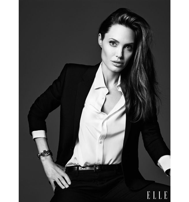 Angelina Jolie ELLE June Cover  #blackandwhite #inspired