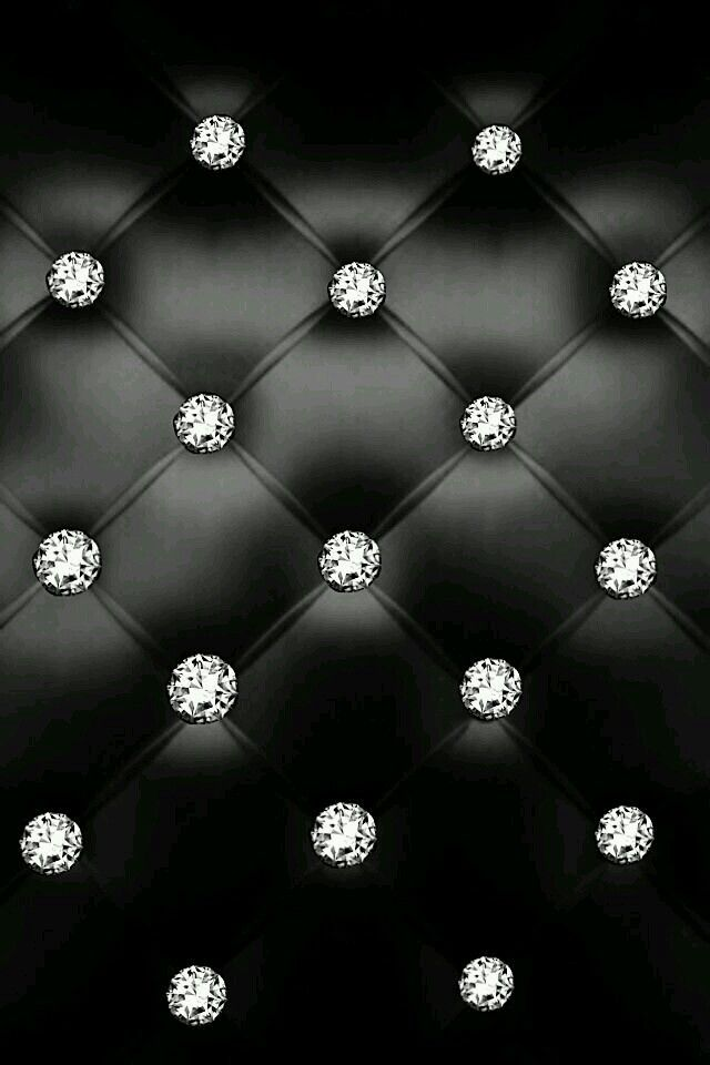 Pink And Black IPhone Wallpaper Diamond Design With Lights