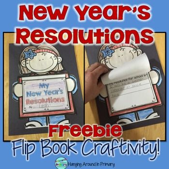 New Year's:  This New Year's resolutions pack is perfect for your youngest learners who are ready to set some goals for themselves.  Create a cute bulletin board with this product and get your students to think about goal setting.  It includes the following:~4 different kids to use for the craftivity~A cover for the flip book~3 pages - a page for each - school/home/personal resolutions  Are you looking for other products to start the year off right when you return in January?