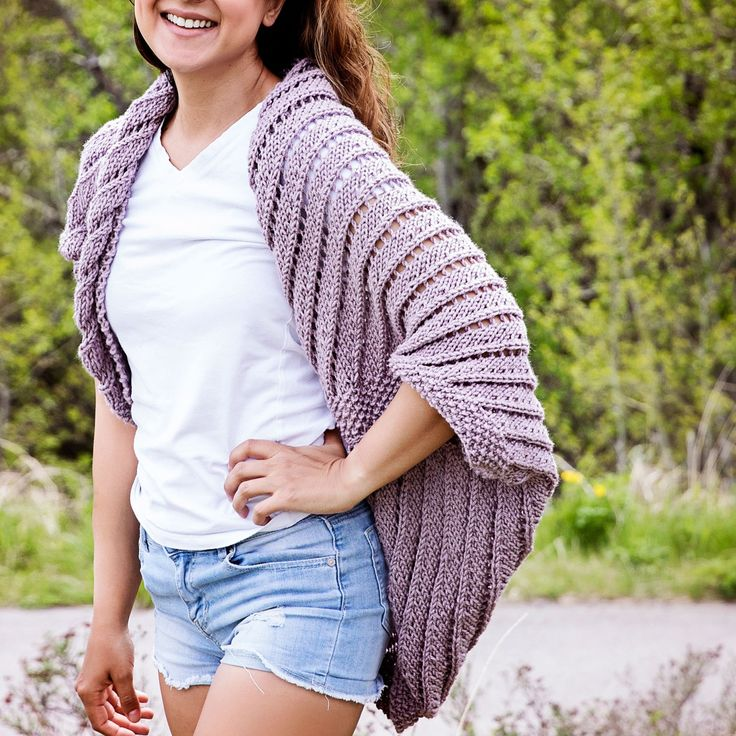 Summertime Cocoon Sweater Knitting Pattern Leelee Knits
