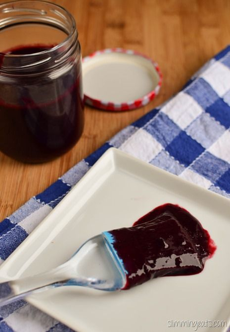 Slimming Eats Blueberry BBQ Sauce - gluten free, dairy free, vegetarian, whole30, paleo, Slimming World and Weight Watchers friendly