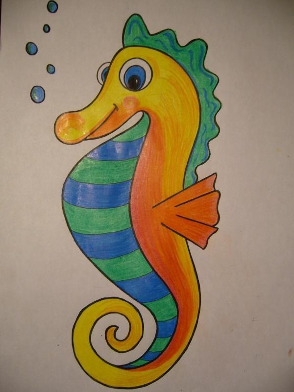 Cómo dibujar un caballito de mar. MUY DIVERTIDO. Aprende a dibujar un caballito de mar, fácil y súper divertido. #manualidadesparaniños #dibujar #caballitodemar
