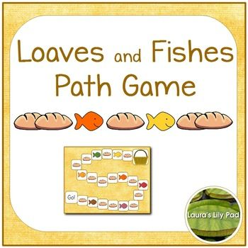 This Loaves and Fishes Game will help students with counting practice as well as remind them of Jesus' miracle of feeding 5000 with two fish and five loaves of bread.