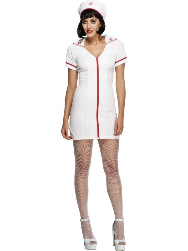 89a22dae33cdb NEW Fever No Nonsense Sexy Nurse - Ladies Fancy Dress Halloween Costume#Sexy #Nurse#Fever
