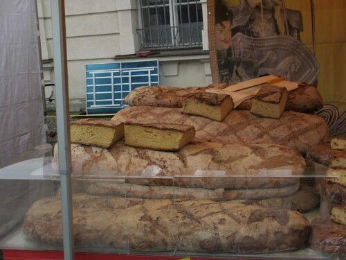 Salzburg markets,  with the biggest bread loaves I have ever seen