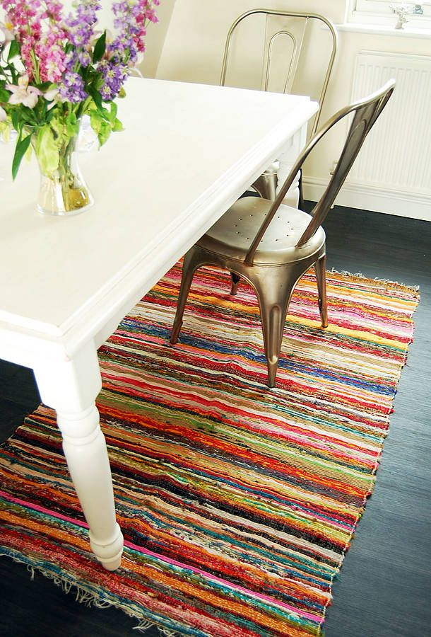 Cool hand woven rug, says it's not great over carpet so not sure...