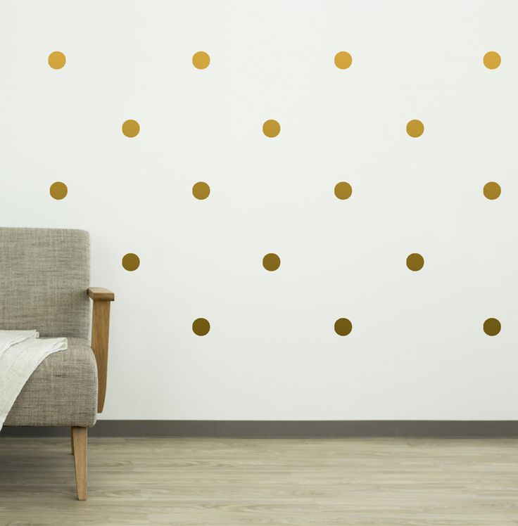 70pcs 4cm Gold Polka Dots vinyl Decals   Golden Circle wall stickers for home decor free ship-in Wall Stickers from Home & Garden on Aliexpress.com | Alibaba Group