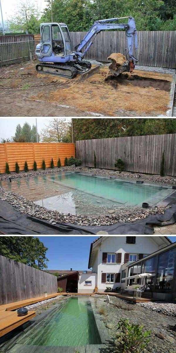 Schwimmteich Selber Bauen 13 Marchenhafte Gestaltungsideen Sarah A Bauen Garden Wedding Gardenwedd Natural Swimming Ponds Swimming Pond Small Pool Design