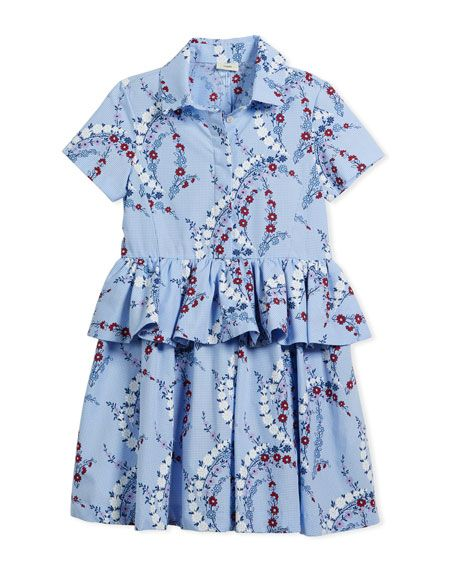 eee219543 Floral-Print Collared Dress Size 10-12 | Stylish Children's Clothing ...