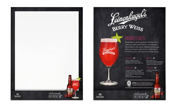 Leinenkugels Berry Weiss Beer POS on Behance