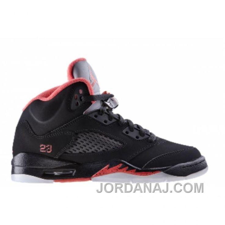 440892-001 Air Jordan 5 Retro (gs) Girls Black Alarming A24033