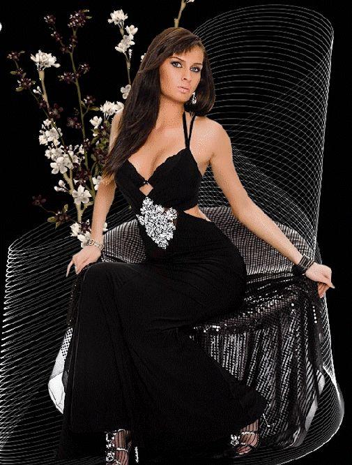 Гифы красивые девушки вечерних платьях