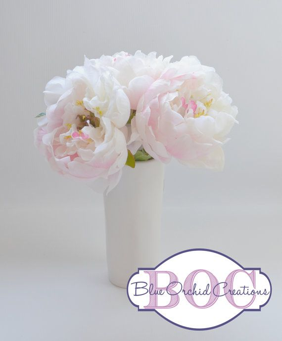 White Peony Bouquet  Small Bouquet Small by blueorchidcreations