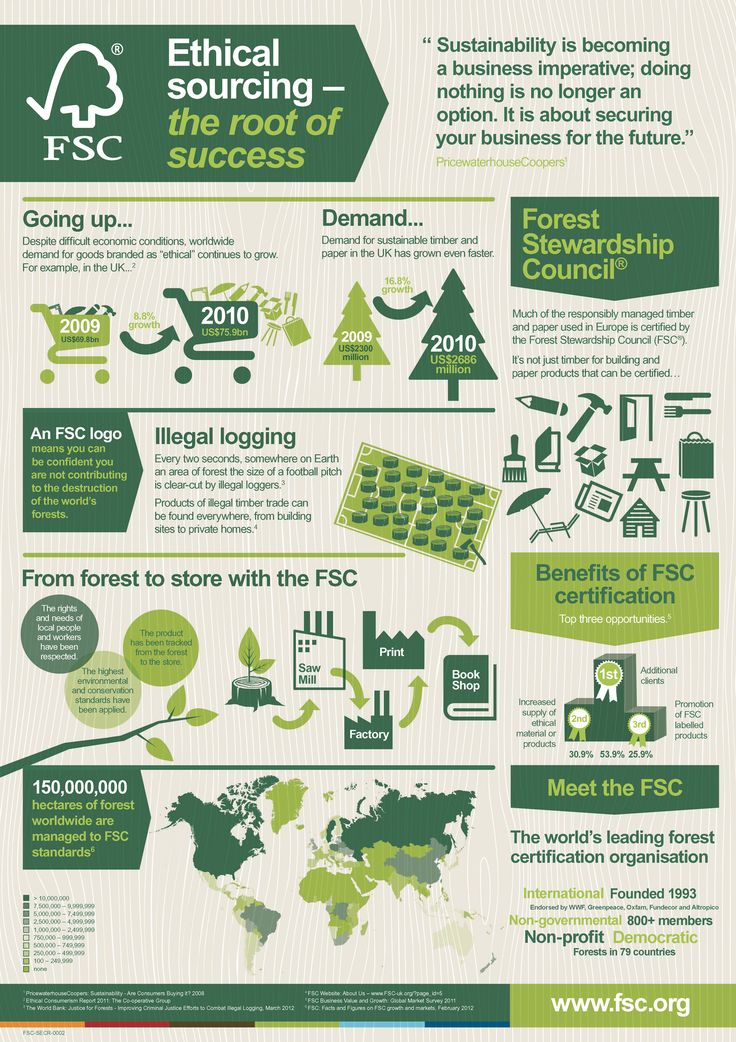 FSC® Market Information #FSC #Ethical #Infographic #wood #forestry #Forest #Stewardship #Council #Ethical Sourcing