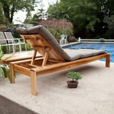 Build your own outdoor chaise lounge chaise lounge for Adirondack chaise lounge plans