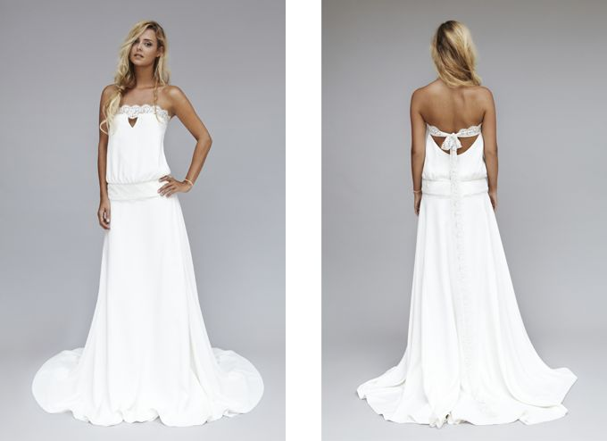 Robes de mariée chic rock / Wedding dresses chick rock > Modèle Lux Source: Lookbook 2013 | Rime Arodaky