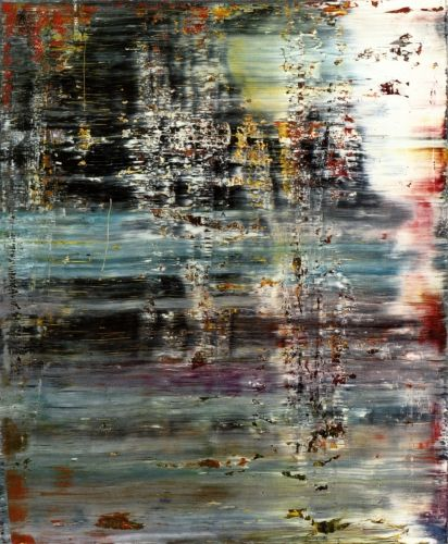 dragged painting - Gerhard Richter