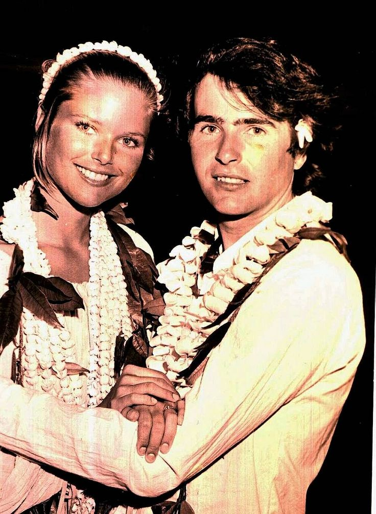 Jean Francois Allaux, first husband and a 19 year old Christie Brinkley in 1973 when she was just Mrs. Allaux, teen bride.