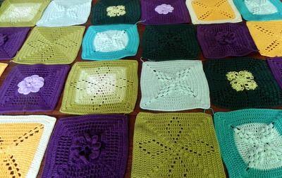 crochet,cal mystère,carré,granny,coton