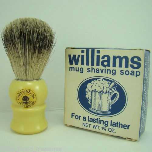Old Fashioned Shaving Brush And Soap