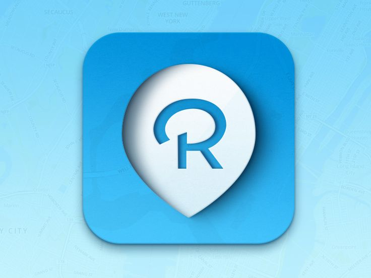 Maybe that R ends up a bit small, but this iOS app icon has otherwise got some character.