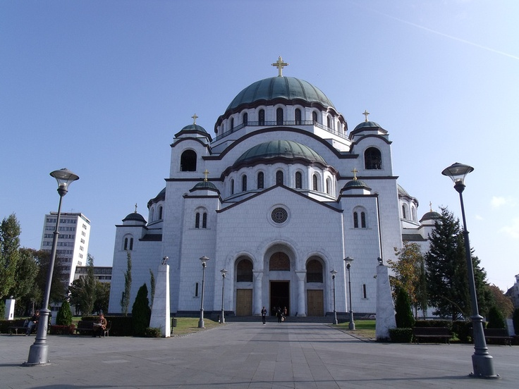 St Sava Cathedral is the world's largest Orthodox Church. Belgrade - Serbia.