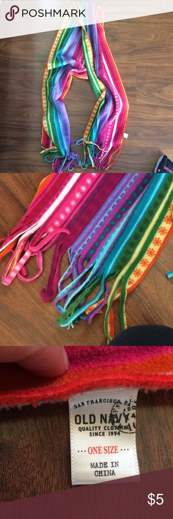 Rainbow Old Navy scarf Rainbow fuzzy scarf Old Navy Accessories Scarves & Wraps