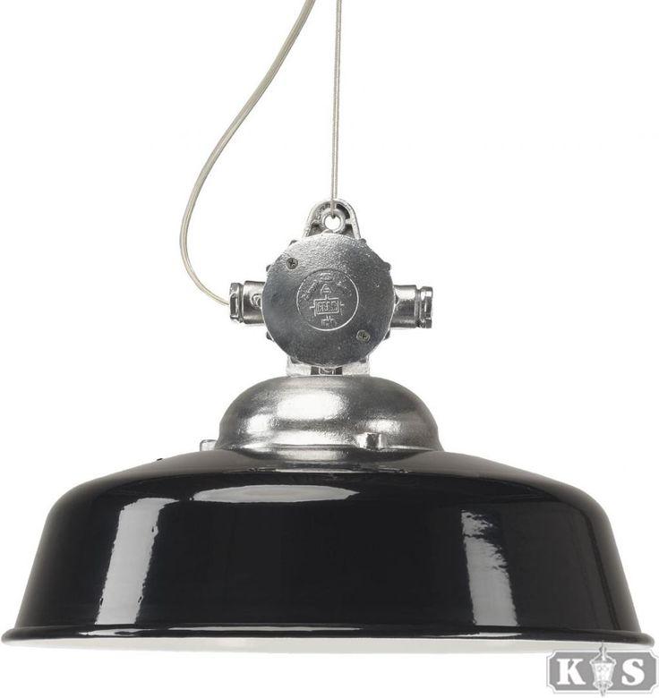 Buitenlamp Detroit Industrie - Hanglamp - Aluminium - Zwart - KS Verlichting