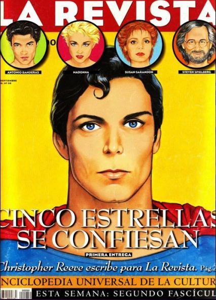 """La Revista Weekly cover """"Superman"""" by Antonio de Felipe / September 1996"""