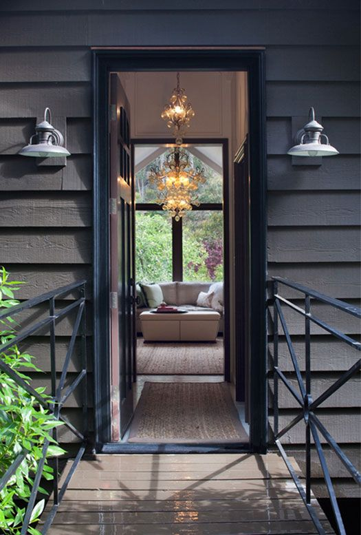 Farmhouse outdoor lights outdoor lights pinterest for Industrial farmhouse exterior