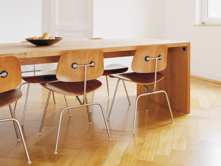 EAMES MOLDED PLYWOOD DINING CHAIR - HERMAN MILLER - http://www.hermanmiller.com/products/seating/multi-use-guest-chairs/eames-molded-plywood-chairs.html