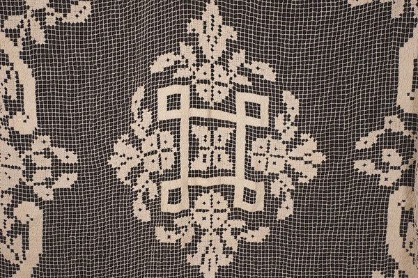 This is a beautiful handmade bedspread made in the Filet Lacis or Filet Lace…