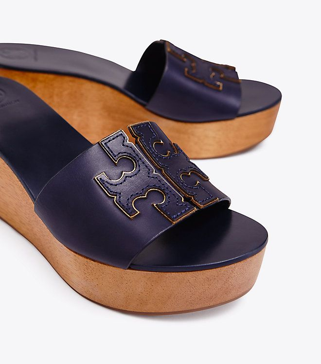 b42fe7c3dcc Tory Burch INES WEDGE SLIDE | Ask Cinderella...Shoes Matter ...