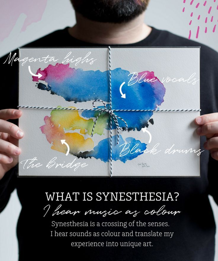 Synesthesia is a crossing of the senses I use to create unique art