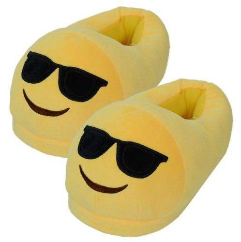 Pantuflas Emoji con Gafas de Sol
