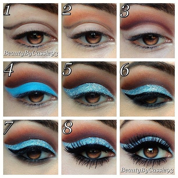Wow this site has the most amazingly fun eyeshadow color combos, it's so great!