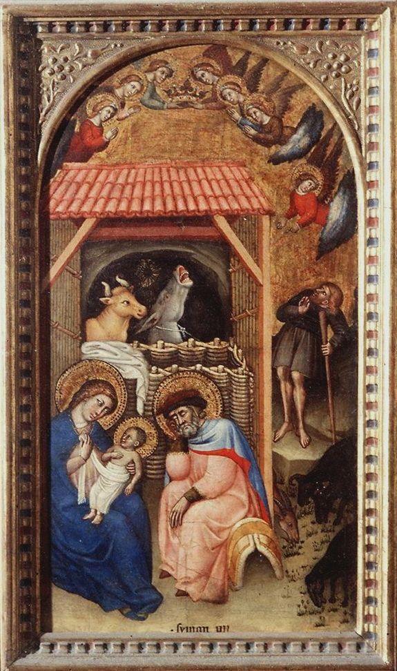 Natività. Firenze, Uffizi. Simone di Filippo Benvenuti, detto Simone dei Crocifissi (Bologna, 1330 circa – Bologna, 1399), è stato un pittore italiano.