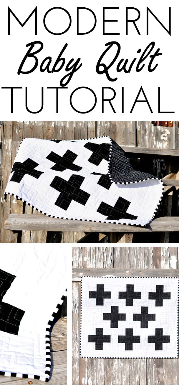 Black and White Modern Baby Quilt - Simple Simon and Company