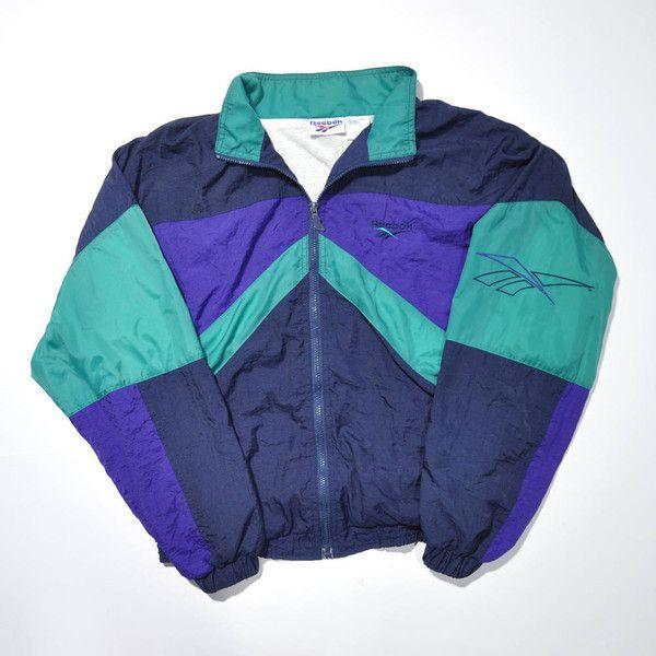 ab77326872305 Rare Vintage 80s 90s REEBOK Color Block REEBOK Streetwear Jacket ...