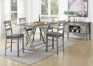 Black Counter Height Table w/ 4 Counter Height Chairs, /category/dining-room/black-counter-height-table-w-4-counter-height-chairs.html