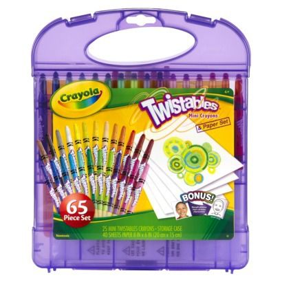 Crayola Mini Twistable Crayon and Paper Set