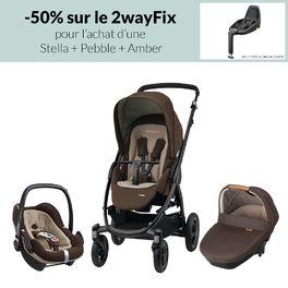 Offre Trio Stella + embase 2way fix à -50% de Bébé Confort