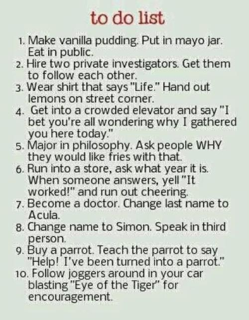 funny bucket list | I want to do ALL OF THESE THINGS!!