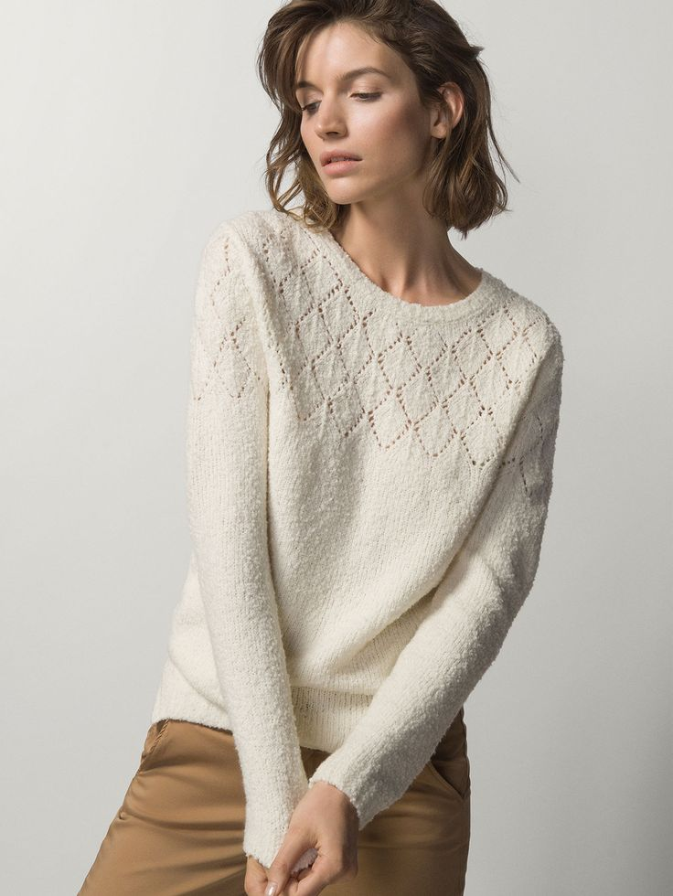 SWEATER WITH OPENWORK DETAIL