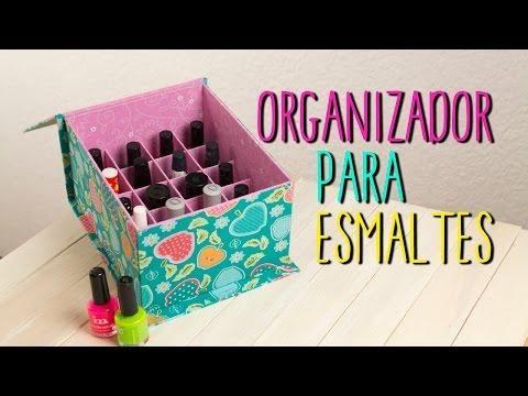 Con la técnica del catonaje podemos hacer muchísimos proyectos, como esta caja para organizar los esmaltes que nos ha encantado.