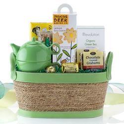 Get well soon gift ideas - a tea basket, cute idea, easy to make