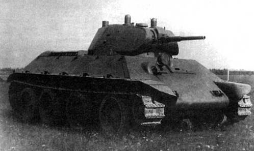 The prototype lightweight wheeled - tracked tank A-20. 1939
